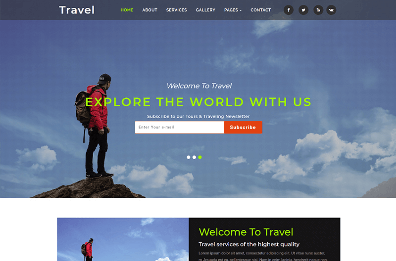 26 Best Free Travel HTML Website Templates 2019