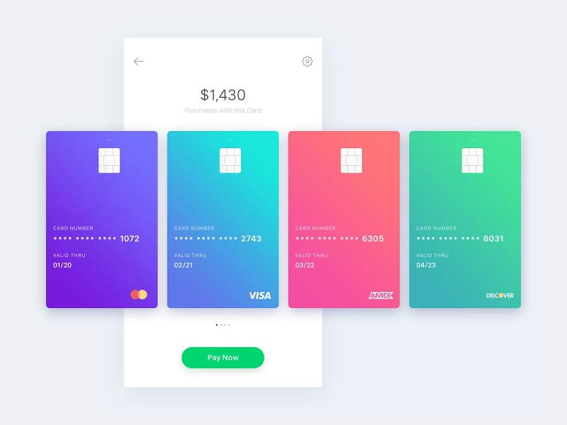 Animated Payment App Design