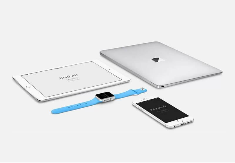 Apple Devices Mockup Silver