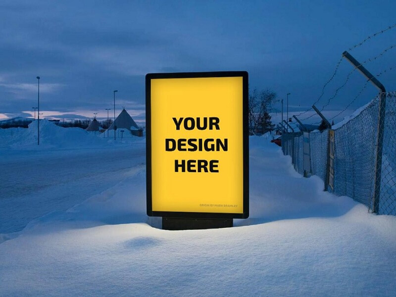 Billboard Display in Snow