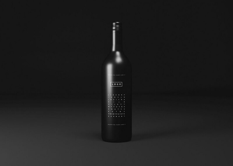 Black Wine Bottle