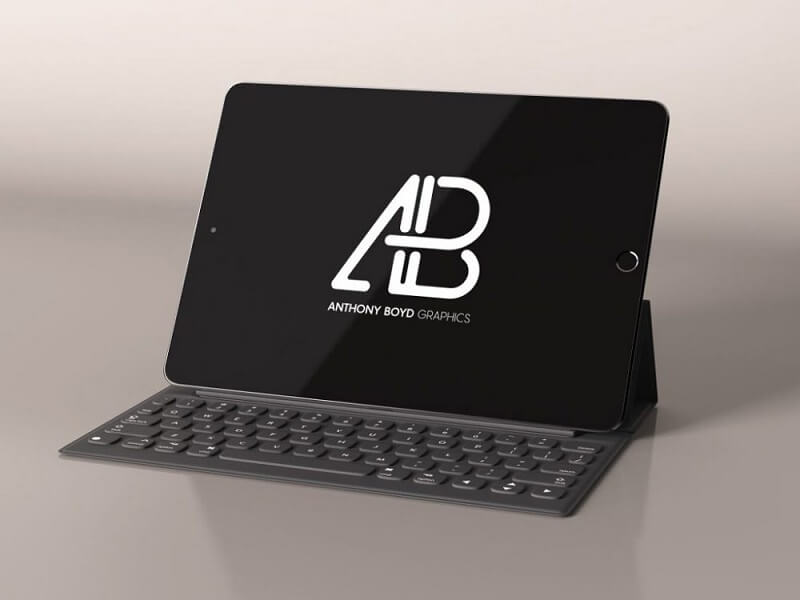 Black iPad with Keyboard