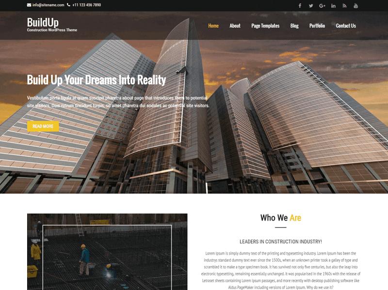 Free Architect WordPress Themes