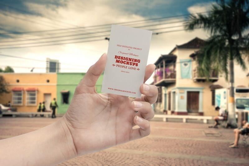 Business Card Hand