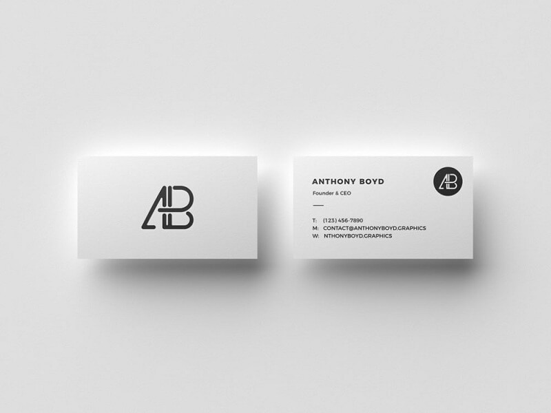 Business Card Top View