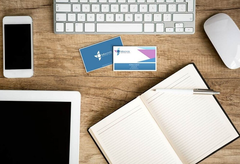 Business Cards on Desk