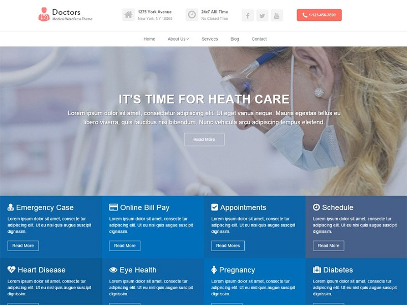 Free Health Medical WordPress Themes