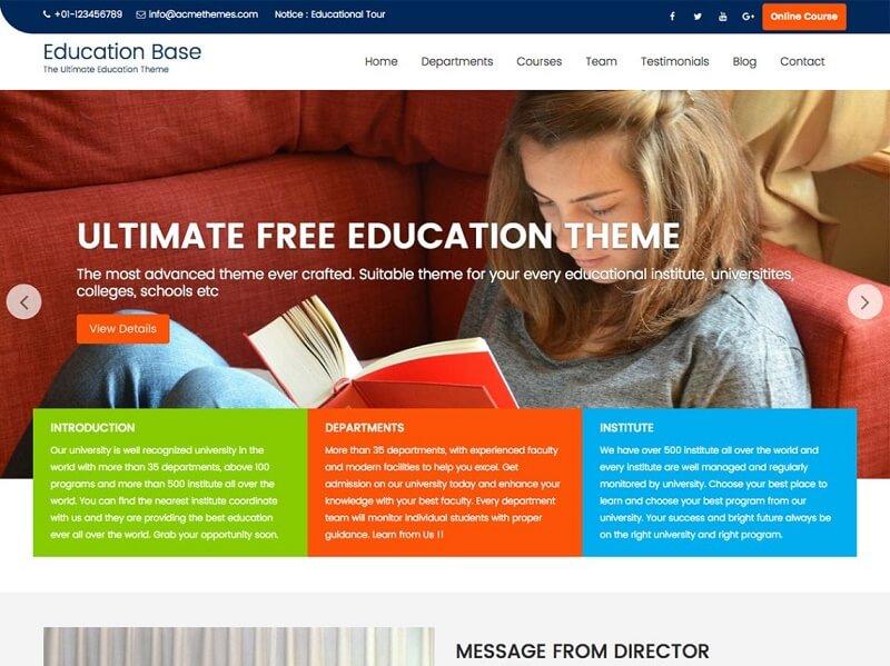 Free Study WordPress Themes