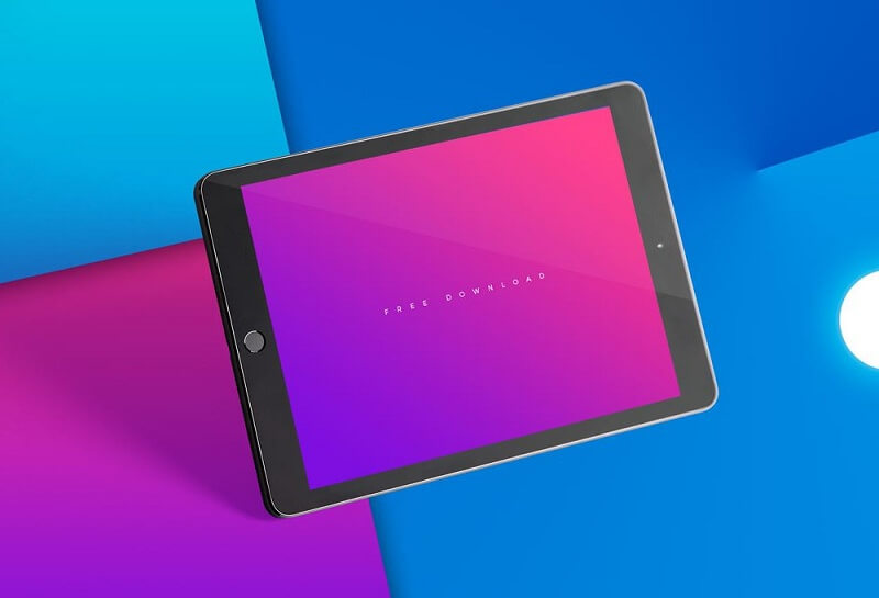 Floating black iPad