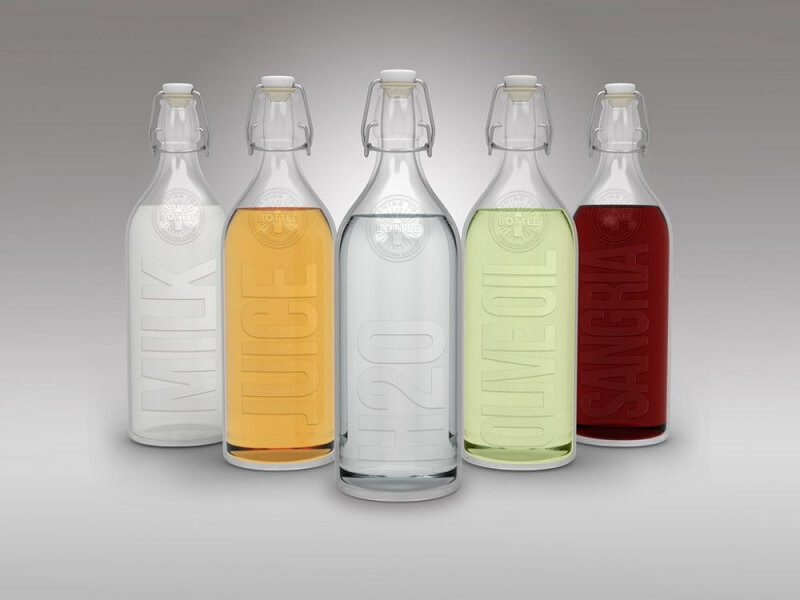 Glas Swing Cap Bottles