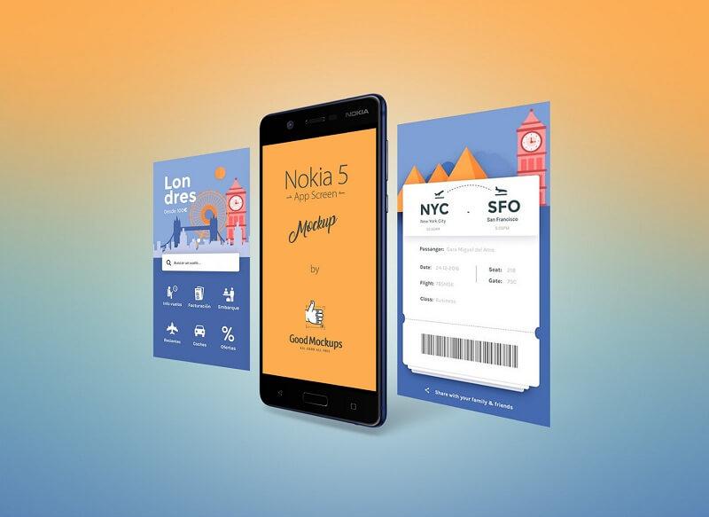 Nokia 5 Android Smartphone App Screen