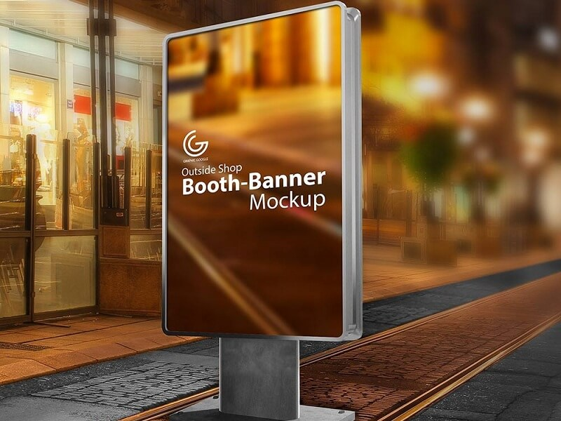 Outside Shop Booth-Banner