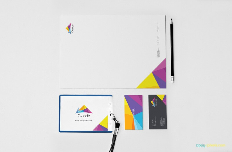 Photorealistic Stationery Branding