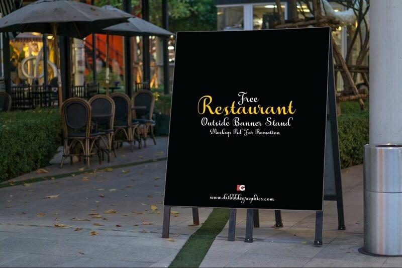 Restaurant Outside Banner Stand