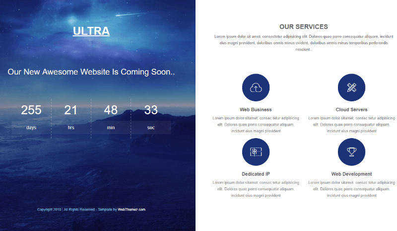 coming soon website template download