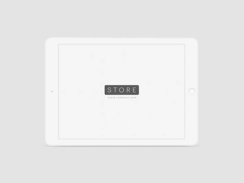 White clay-style iPad
