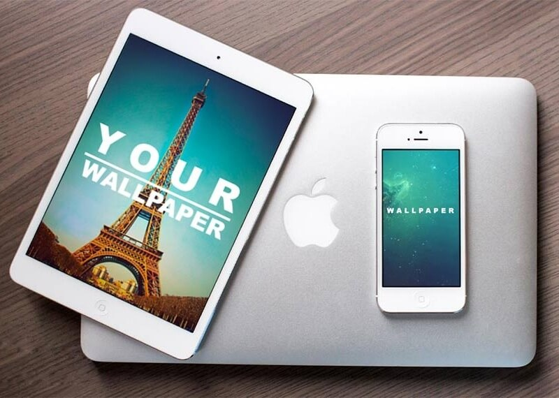 iPad and iPhone on MacBook