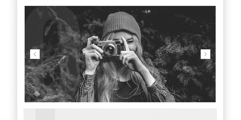 Free Photography PSD Website Templates