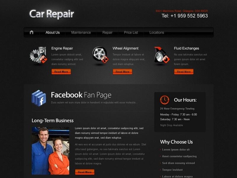 9 Best Free Vehicle PSD Website Templates