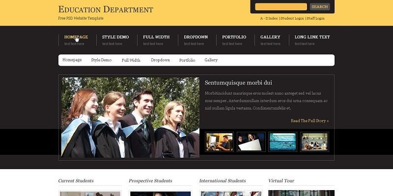 Free Education PSD Website Templates
