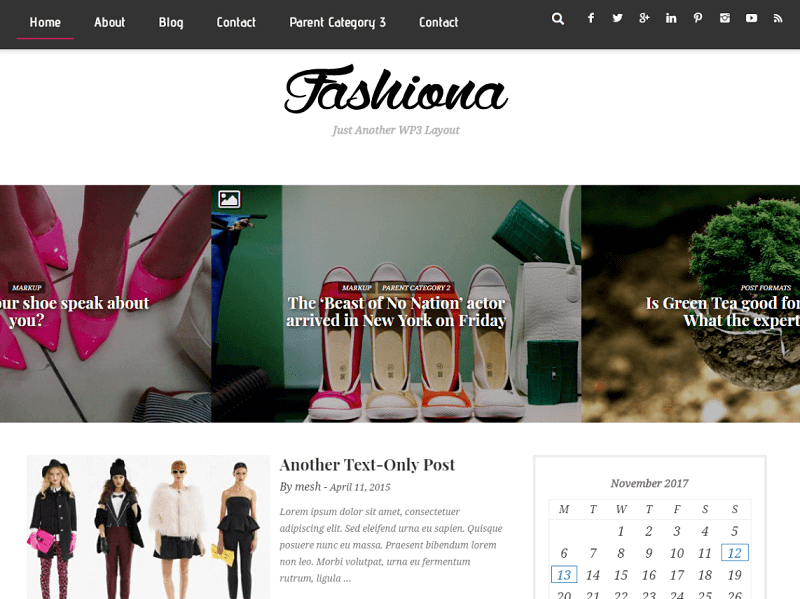 Free Fashion WordPress Themes