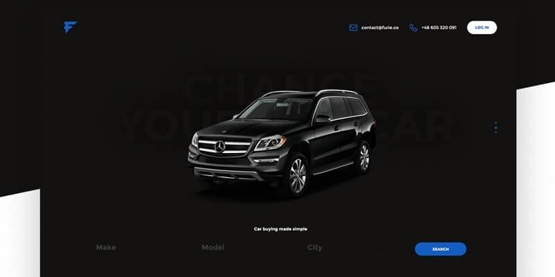 Free Vehicle PSD Website Templates