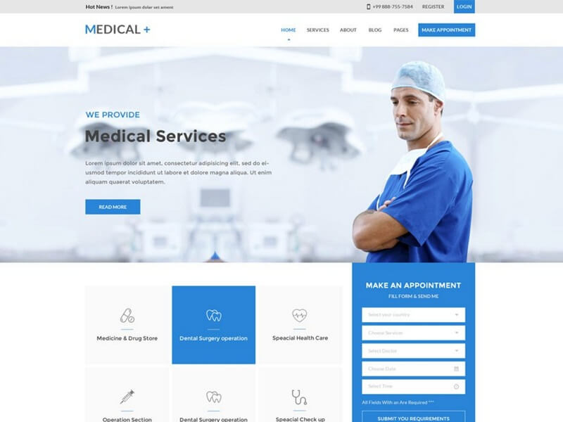 30+ doctor website templates for medical practitioners 2019 rojak wp.