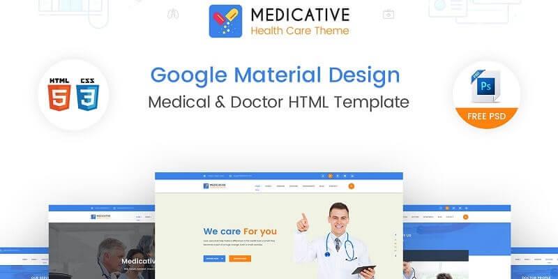 Free Medical PSD Website Templates