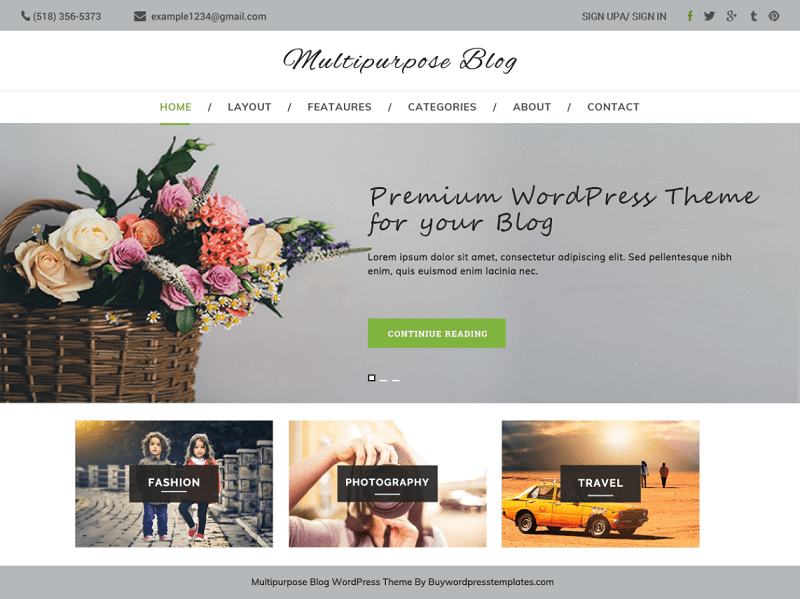 Multipurpose blog