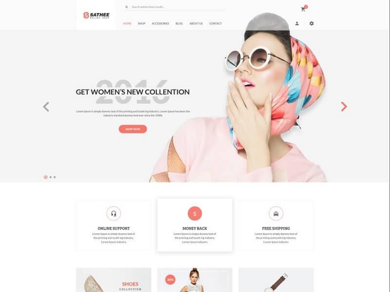20 Best Free Fashion Psd Website Templates Digital Template Market