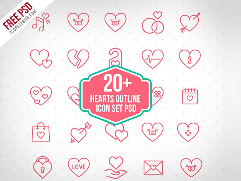 20+ Hearts Outline