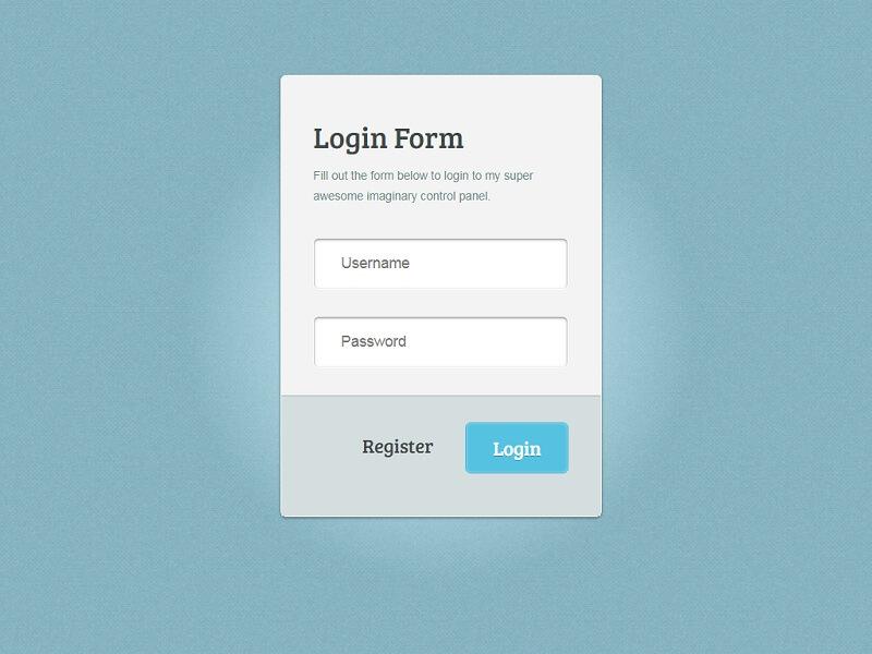Amazing CSS3 Login Form