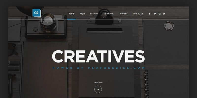 Free Personal PSD Website Templates