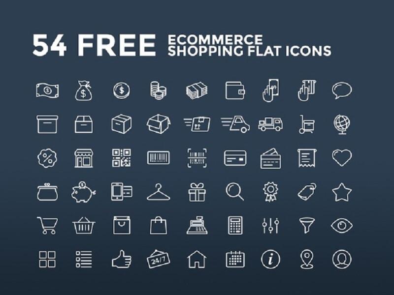 Ecommerce Shopping Flat Icons