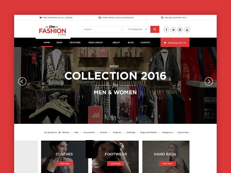 4aff7fe3b79b Fashion Store. Fashion Store. This eCommerce PSD website template ...