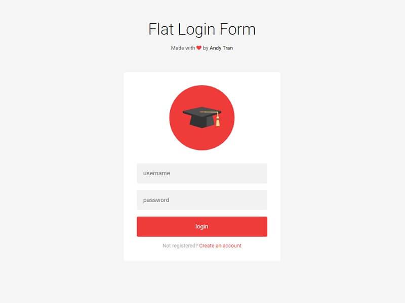 Flat Login Form