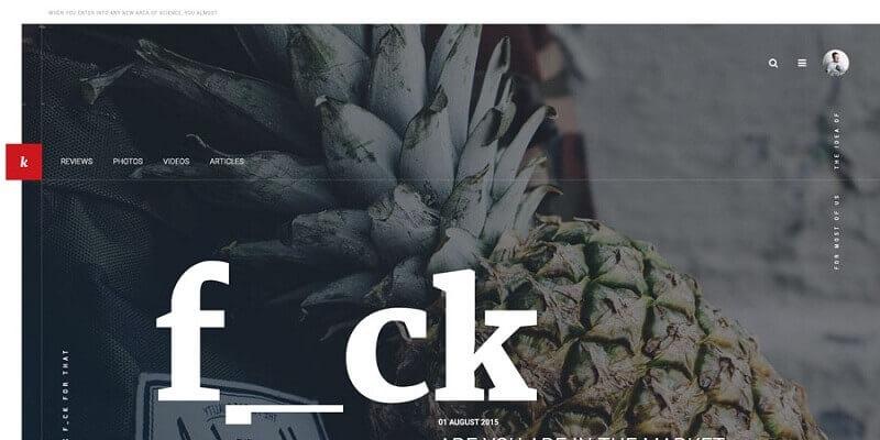 Free Magazine PSD Website Templates