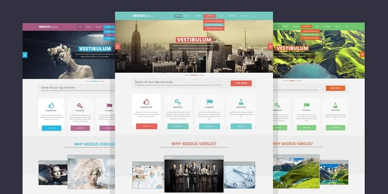 Free Responsive PSD Website Templates