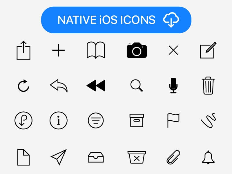 Native iOS Icons