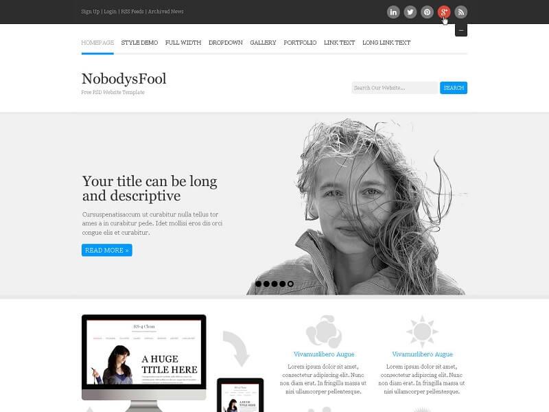8 Best Free Responsive Psd Website Templates Digitaltemplatemarket