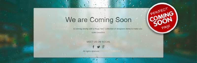 Perfect Coming Soon Page