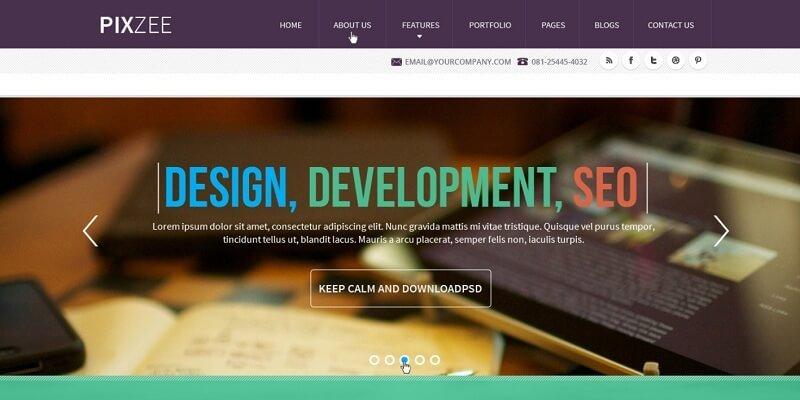 Free Parallax PSD Website Templates