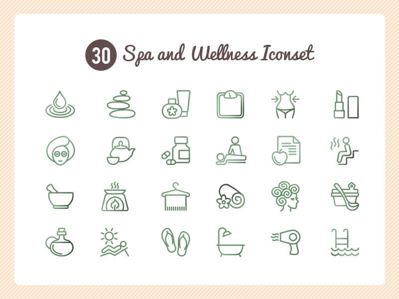 Spa and Wellness Icon set