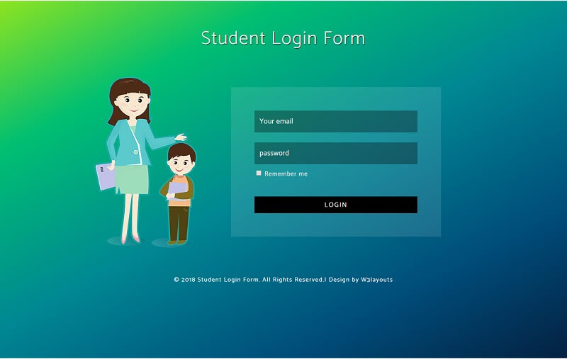 Student Login Form