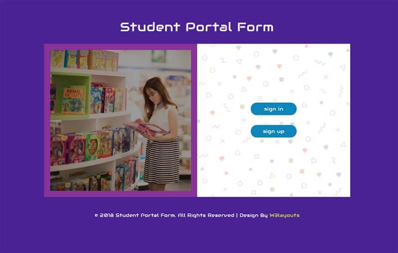 Student Portal Form