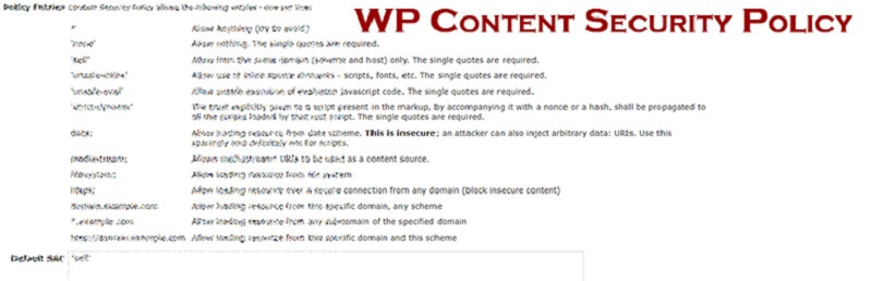 WP Content Security Policy