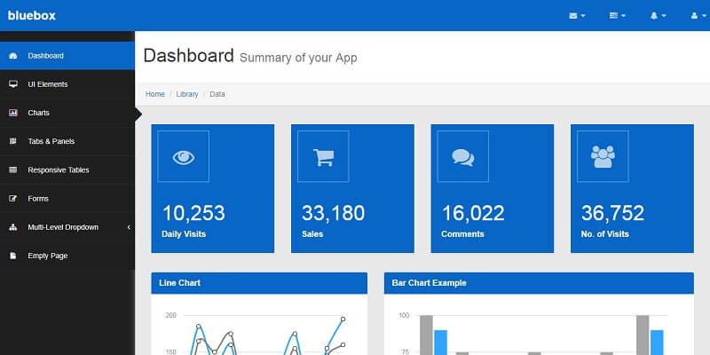 Free HTML5 Admin Dashboard Templates