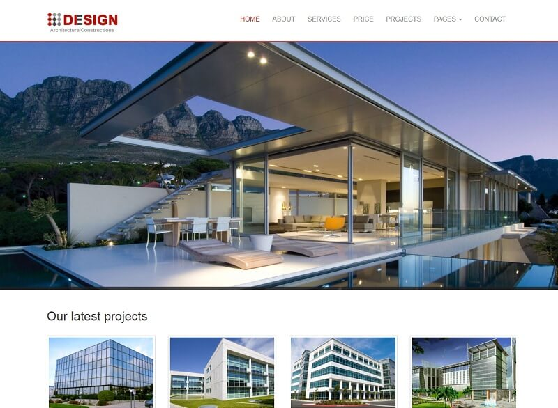 Free Architect HTML Website Templates