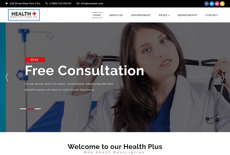 Free Health Medical HTML Website Templates