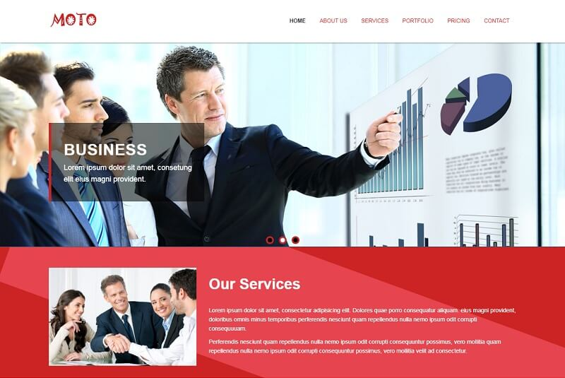 Free Business HTML Website Templates